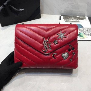 ysl Saint Laurent logo LOULOU small Y-shaped quilted leather bag 392277