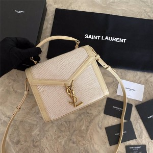 YSL Saint Laurent CASSANDRA mini canvas and smooth leather handbag 623930/532753