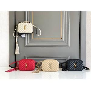 ysl Saint Laurent LOU black quilted leather belt bag 534817