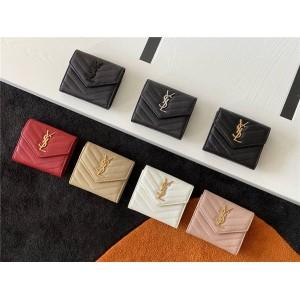 ysl Saint Laurent MONOGRAM quilted leather tri-fold wallet 403943