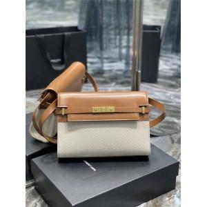 YSL Saint Laurent MANHATTAN canvas and leather shoulder bag 579271
