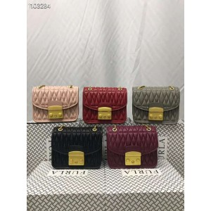 Furla handbags pleated sheepskin METROPOLIS COMETA chain bag 998449