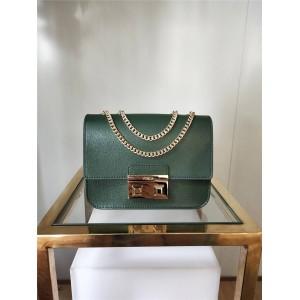 Furla handbags new small square buckle leather double chain flip messenger bag
