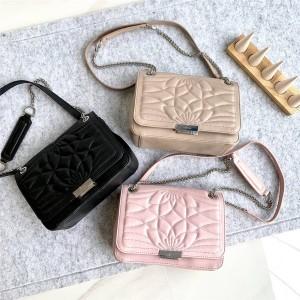 Furla handbags new leather Deliziosa flower pattern chain bag
