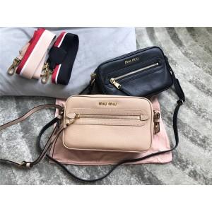 MiuMiu handbag wide shoulder strap shoulder bag camera bag 5BH116