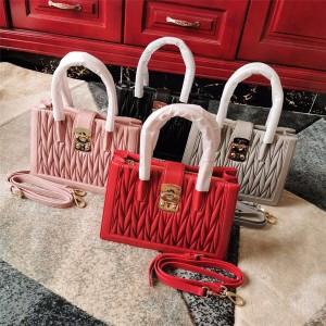 MiuMiu handbags new sheepskin MIU CONFIDENTIAL handbag 5BA126