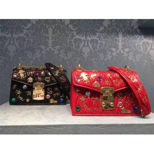 MiuMiu handbag new lambskin metal badge diagonal shoulder bag 5BD081