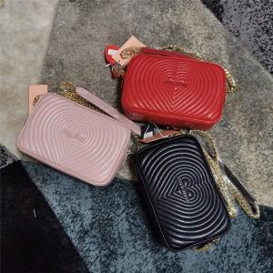 Miumiu handbag new heart-shaped sheepskin handbag camera bag 5BH118