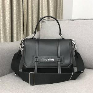 Miumiu handbag new leather Grace Lux portable shoulder bag 5BD078