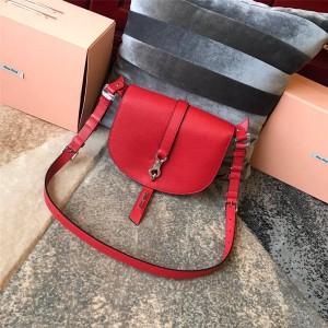 MiuMiu handbag new goatskin organ saddle bag 5BD1222
