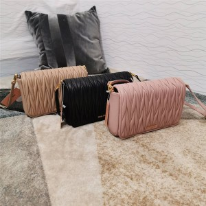 miumiu bag new wrinkled sheepskin chain bag 5BA064