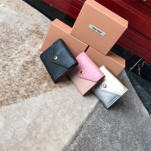 miumiu New Goat Leather Trifold Wallet 5MH014