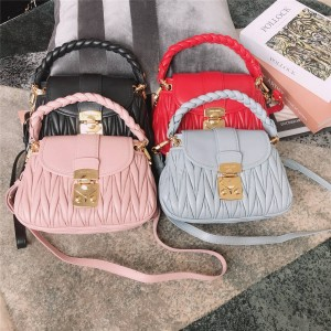 miumiu official website jacquard lambskin woven handle shoulder bag 5BH188