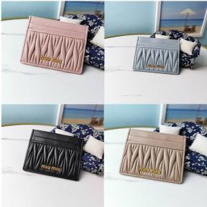 miumiu official website new nappa leather card holder 5MC076