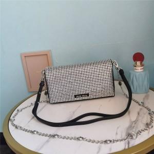 miumiu official website imitation crystal chain bag messenger bag 5BH164