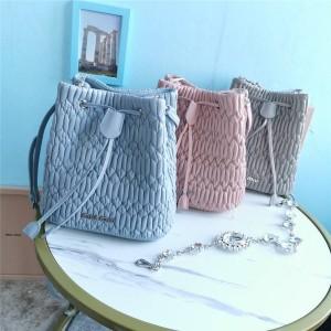 miumiu official website new sheepskin crystal chain bucket bag 5BE050